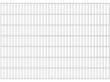 Panneaux de clôture 2D pour jardin 2008x1430 mm 42 m argenté - vidaXL