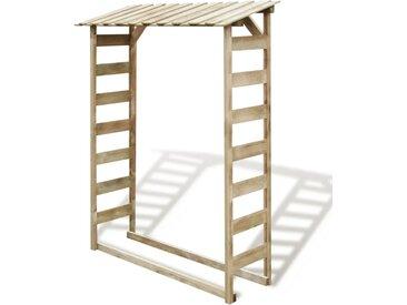 Abri de stockage du bois de chauffage 150x44x176 cm Pin imprégné - vidaXL