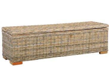 Boîte de rangement 120 cm Rotin naturel kubu et manguier solide - vidaXL