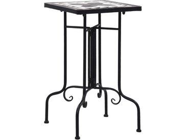 Tables d'appoint mosaïque Noir et blanc Céramique  - vidaXL