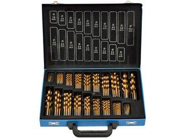 Coffret de 170 forets HSS TI avec boîte de transport métal - vidaXL