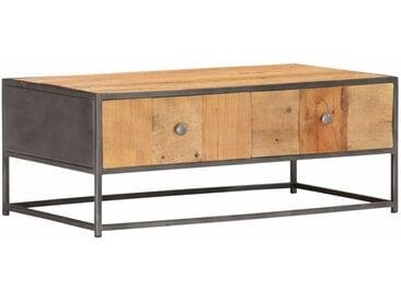 Table basse 90 x 50 x 35 cm Bois de récupération massif - vidaXL