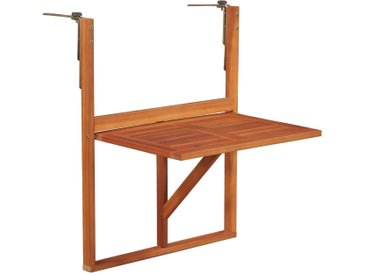 Table de balcon Bois d'acacia massif Marron - vidaXL