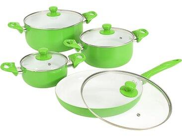 Ensemble d'ustensiles de cuisine 8 pcs Vert Aluminium - vidaXL