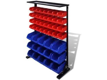 Etagère Bac à bec combinaison murale Bleu et rouge - vidaXL