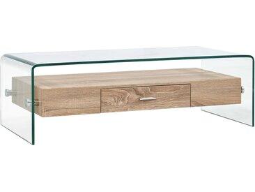 Table basse Clair 98 x 45 x 31 cm Verre trempé - vidaXL