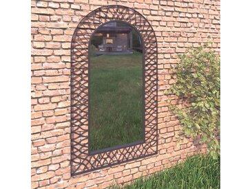 Miroir mural de jardin 60 x 110 cm Noir - vidaXL