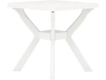 Table de bistro Blanc 70x70x72 cm Plastique - vidaXL