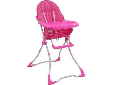 Chaise haute pour bébé Rose et blanc  - vidaXL