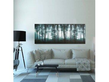 Ensemble de tableau sur toile Arbres Multicolore 200x80 cm - vidaXL
