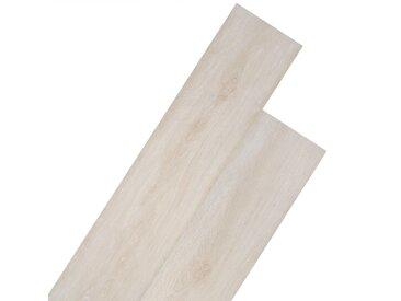 Planche de plancher PVC autoadhésif 5,02 m² 2 mm Blanc chêne - vidaXL