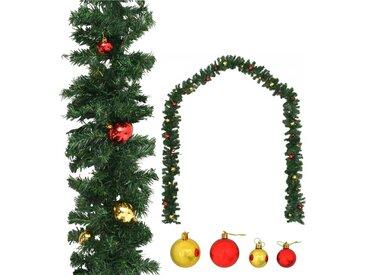 Guirlande de Noël décorée avec boules 10 m - vidaXL