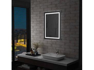Miroir à LED pour salle de bains et capteur tactile 60x80 cm - vidaXL