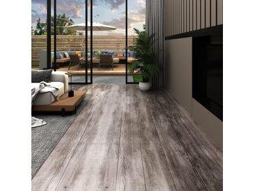 Planches de plancher PVC 5,02m² 2mm Autoadhésif Marron bois mat - vidaXL