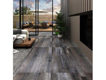Planches de plancher PVC 5,02m² 2mm Autoadhésif Bois industriel - vidaXL