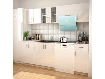 Armoires de cuisine 7 pcs avec hotte Blanc brillant - vidaXL