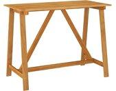 Table de bar de jardin 140x70x104 cm Bois d'acacia massif - vidaXL