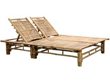 Chaise longue pour 2 personnes Bambou - vidaXL