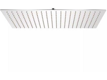 Tête de douche plongeante rectangulaire en acier inoxydable 30x50 cm - vidaXL
