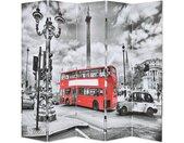 Cloison de séparation 200 x 170 cm Bus londonien Noir et blanc - vidaXL