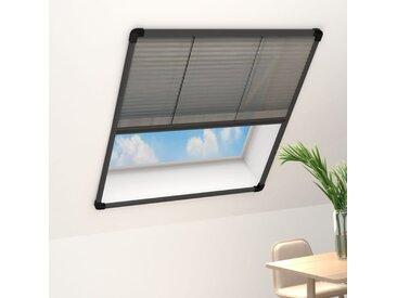 Moustiquaire plissée à fenêtre Aluminium Anthracite 120x160 cm - vidaXL