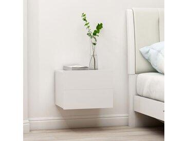 Tables de chevet 2 pcs Blanc 40 x 30 x 30 cm Aggloméré - vidaXL