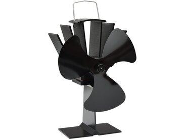 Ventilateur de poêle alimenté par chaleur 3 pales Noir - vidaXL