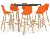 Ensemble de bar 7 pcs Orange - vidaXL