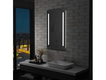 Miroir mural à LED pour salle de bains avec étagère 60x100 cm - vidaXL