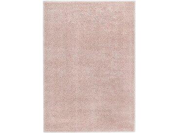 Tapis à poils longs 140 x 200 cm Vieux rose - vidaXL