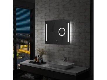 Miroir mural à LED de salle de bain et capteur tactile 80x60 cm - vidaXL