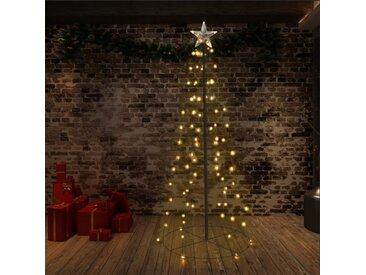 Arbre de Noël cône 96 LED d'intérieur/d'extérieur 72x180 cm - vidaXL