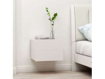 Table de chevet Blanc 40 x 30 x 30 cm Aggloméré - vidaXL