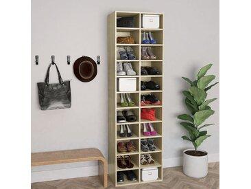 Armoire à chaussures Chêne sonoma 54x34x183 cm Aggloméré - vidaXL