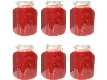Pots à confiture en verre avec serrure 6 pcs 5 L - vidaXL