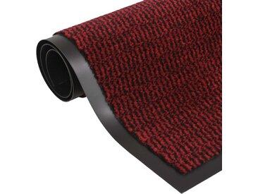 Paillasson rectangulaire 80 x 120 cm Rouge - vidaXL