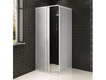 Cabine de douche en aluminium 80 x 90 cm - vidaXL
