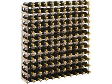Casier à bouteilles 120 bouteilles Pinède solide - vidaXL