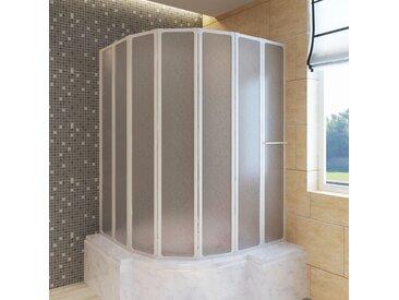 Pare baignoire à 7 volets avec porte-serviettes 140 x 168 cm - vidaXL