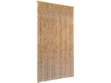 Rideau de porte contre insectes Bambou 100 x 220 cm - vidaXL