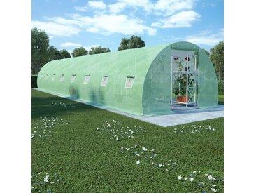 Serre avec fondation en acier 36 m² 1200x300x200 cm - vidaXL
