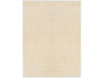 Tapis Shaggy 120 x 160 cm Crème - vidaXL