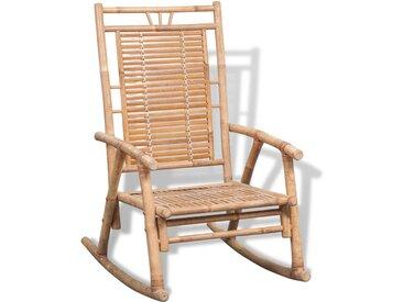 Chaise à bascule en bambou - vidaXL