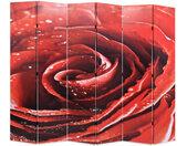 Cloison de séparation pliable 228 x 170 cm Rouge rose - vidaXL
