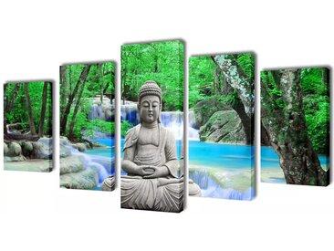 Set de toiles murales imprimées Bouddha 200 x 100 cm - vidaXL