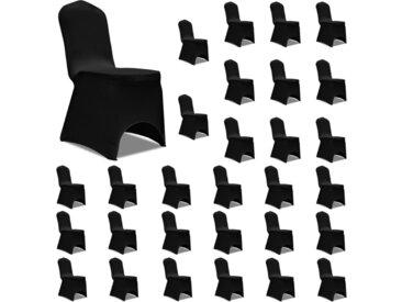 Housses élastiques de chaise Noir 30 pcs - vidaXL