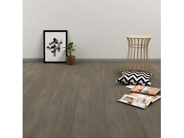 Plancher à enclenchement 3,51 m² 4 mm PVC Gris et marron - vidaXL