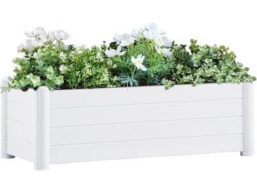 Lit surélevé de jardin PP Blanc 100x43x35 cm - vidaXL