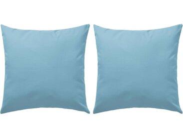Oreiller d'extérieur 2 pcs 60 x 60 cm Bleu clair - vidaXL
