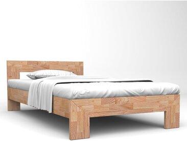 Cadre de lit Chêne solide 140x200 cm - vidaXL